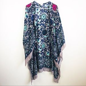 Free People | Colorful Floral Kimono Duster